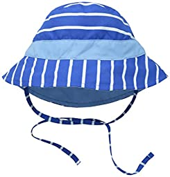 i play. Toddler Boys Reversible Bucket Sun Protection Hat, Royal Stripe, 2T/4T