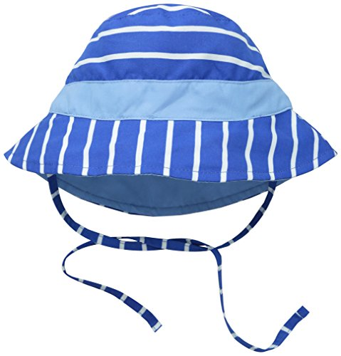 i play. Baby Reversible Bucket Sun Protection Hat, Royal Stripe, 9/18 Months