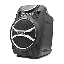 Pyle Boom Rock PWMAB210BK Bluetooth Karaoke Speaker Recording System, Rechargeable Battery, Wireless Mic, USB/SD Readers
