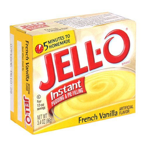 Buy Jell-O Instant Pudding & Pie Filling, French Vanilla, 3.4-Ounce Boxes (Pack of 24) (JELL-O, Health & Personal Care, Products, Food & Snacks, Baking Supplies, Pie & Cobbler Fillings)