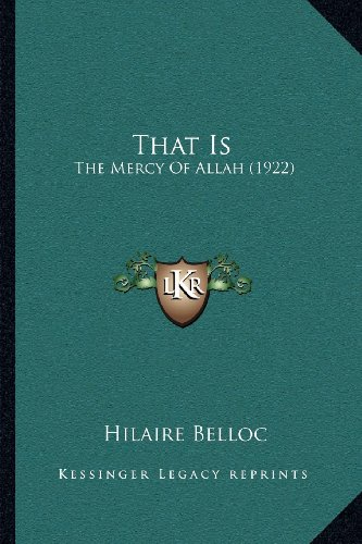That Is: The Mercy of Allah (1922)