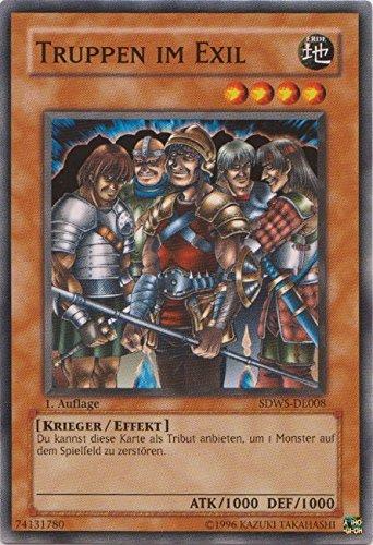 SDWS-DE008 Truppen im Exil 1. Auflage im Set mit original Gwindi Kartenschutzhülle