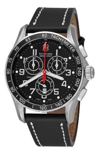 Victorinox Swiss Army Men's 241444 Chron Classic Black Chronograph Dial Watch
