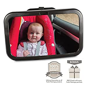 *FLASH SALE* Premium Rear Facing Baby Car Mirror | Easy Installation | Shatterproof | Adjustable Angle View | Safely Transport Your Child | Ideal Gift | 100% Infinity Guarantee |