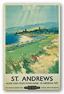 "Vintage Golf - St. Andrews by Frank Mason 22""x28"" Art Print Poster Vintage"