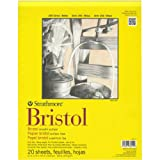 Strathmore 11-Inch by 14-Inch Bristol Smooth Paper Pad, 20-Sheet