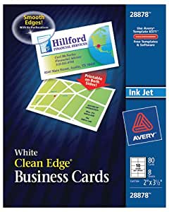 Amazon Avery Clean Edge Business Cards 2 inches x 3