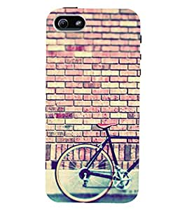 D KAUR Cycle Lovers Back Case Cover for Apple iPhone 5::Apple iPhone 5S