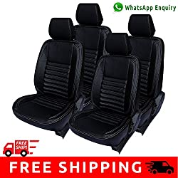 Autofact Brand (Economical Range) PU Leatherite Car Seat Covers for Maruti Car 800 Old Model in Full Black
