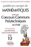 echange, troc Jean Franchini, Jean-Claude Jacquens - Mathématiques Concours communs polytechniques (ex-ENSI) 2002-2003, tome 10
