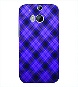 ColourCraft Check Pattern Back Case Cover for HTC ONE M8