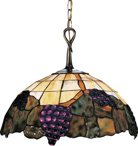B000ROI57Y Landmark 226-VA Grapevine 1-Light Pendant, 13-Inch, Vintage Antique