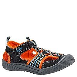 OshKosh B\'Gosh Jax2-B Open Bump Toe Sandal (Toddler/Little Kid), Navy/Orange, 8 M US Toddler