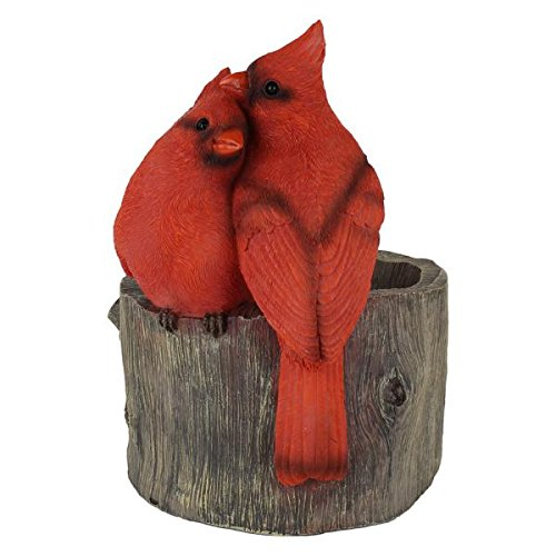 Wonderland Two Red Cardinal Birds on Flower Pot / Planter : Home Decor , Gift Item, gifting , Garden Decor