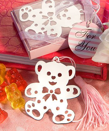 Pink Teddy Bear Bookmark Favors, 36