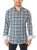 VICKERS Camisa Hombre Harvard (Verde / Naranja / Rosa)