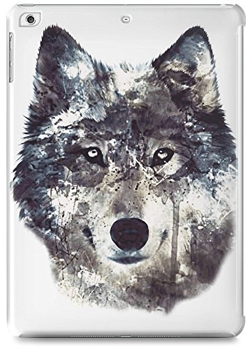 wolf-illustration-ipad-air-case-cover-custom-printed-hard-plastic-case-keep-your-valuable-ipad-air-s