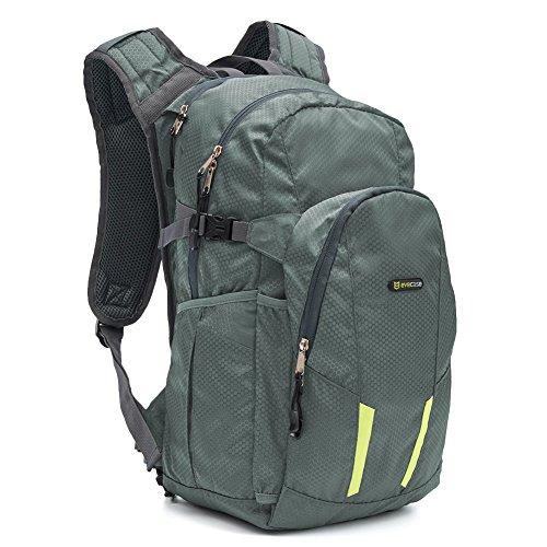 Zaino per Trekking, Evecase 15L Leggero Borsa da Viaggio per Attività all'aperto/Escursione/Jogging/Campeggio/Ciclismo - Grigio Scuro
