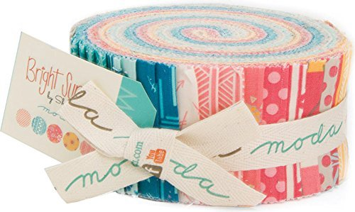 Bright Sun By Sherri & Chelsi of a Quilting Life Moda Jelly Roll, Set of 40 2.5x44-inch (6.4x112cm) Precut Cotton Fabric Strips (Moda Jelly Rolls For Quilting compare prices)