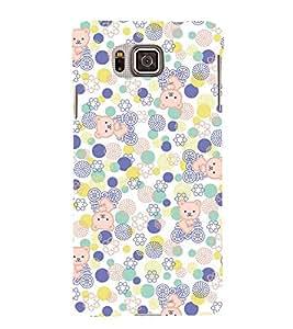 KIDDISH POLKA DOT AND TEDDYBEAR PATTERN 3D Hard Polycarbonate Designer Back Case Cover for Samsung Galaxy Alpha G850