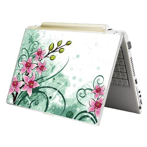 Bundle Monster MINI NETBOOK Laptop Notebook Skin Sticker Cover Art Decal   7 8 9 10   Fit HP Dell Asus Acer Eee Compaq MSI   Pink Green Floral