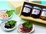 【富山湾の贈り物】富山湾の神秘・ほたるいか・白えび「潮の八百重(小瓶3本入り)」