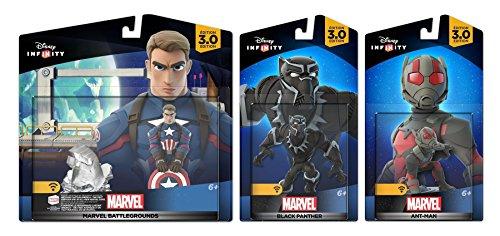 Disney Infinity 3.0 Marvel Battlegrounds: Captain America + Black Panther + Ant-man - Civil war Set NEW