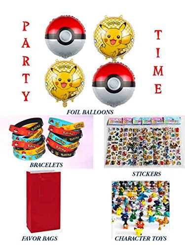 Party Favors for POKEMON Themed Birthday (for 10 People) Birthday Party Supplies
