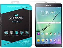 Klear Cut KlearGlass - 9H Hardness Tempered Glass Screen Protector for Samsung Galaxy Tab S2 8.0 with Lifetime Replacements / 99.9% HD Clear / Shatterproof and Anti-Bubble Ballistic Glass