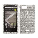 Silver BLING COVER CASE SKIN 4 Motorola Droid X2 MB870