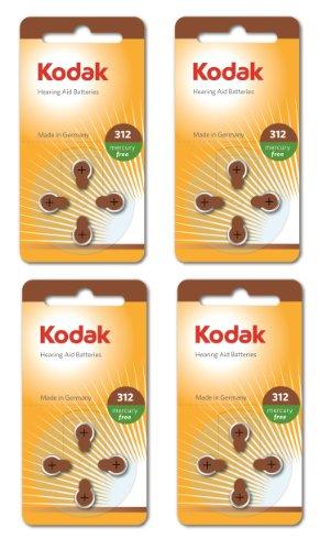 , 16 Confezione da Kodak per apparecchi acustici 312 Dimensioni della batteria (PR41, k312za) 1,45 V Exp 03/2017