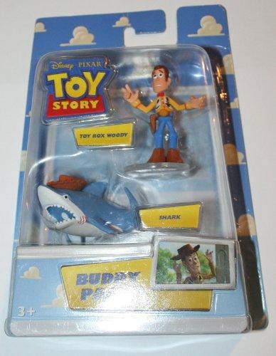 Disney / Pixar Toy Story Mini Figure Buddy 2Pack Toy Box Woody Shark - 1
