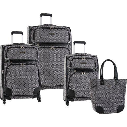ninewest-luggage-element-9-four-piece-luggage-set-black-grey-one-size