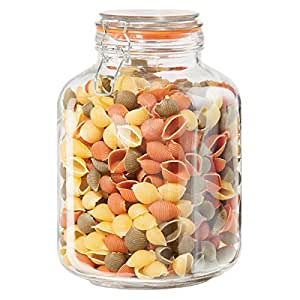 amazon com airtight glass canister with clamp lids