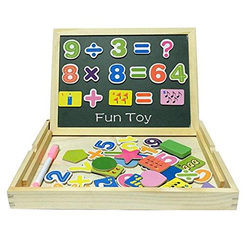 Tribe Giocattoli in Legno Puzzle Magnetica Anzahl Mathe Lernen Lavagna 2 in 1 Educativi Jigsaw Costruzioni Giochi e Gioco da Tavolo per Bambini Bambino Bimba da 3 4 5 Anni