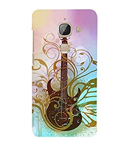 Artistic Vintage Guitar 3D Hard Polycarbonate Designer Back Case Cover for LeEco Le Max 2 :: LeTV Max 2