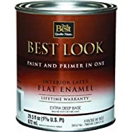 Best Look Interior Flat Paint And Primer In One Wall Enamel-INT FLT EX DEEP BS P