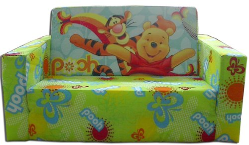 Disney Designs Cloth/ Foam Flip Out Sofa Pooh and Friends with Material Finish, 70 x 45 x 35 cm, 1-Piece