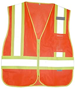 Aervoe Surveyor ANSI Class 2 Safety Vest (Florida Orange, Medium)