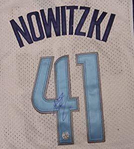 Dirk Nowitzki Dallas Mavericks Autographed White Finals #41 Jersey by Sports-Autographs