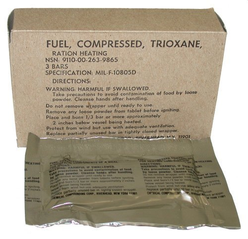 G.I. Trioxane Heating Fuel Bars (Trioxane Fire Starter compare prices)