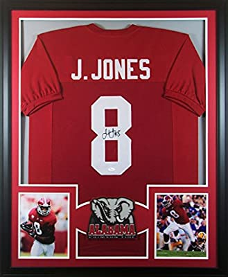Julio Jones Framed Jersey Signed JSA COA Autographed Alabama Atlanta Falcons