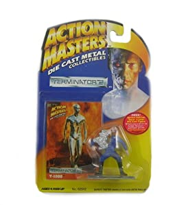1994 Action Masters Terminator 2 T-1000 Die Cast Mental Collectibles Includes Trading Card