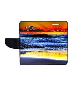 KolorEdge Printed Flip Cover For Samsung Galaxy J7 Multicolor - (1479-55KeMLogo11373SamJ7)