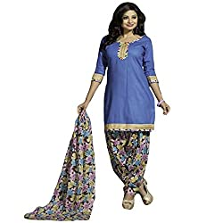 Typify Women's Cotton Unstitched Dress Material (TYPIFY237_Multicolor_Free Size)