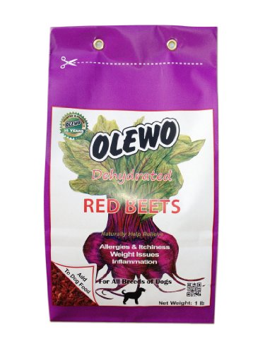 Olewo Red Beets Allergy Dog Food Supplement 1 lb