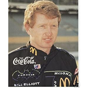 Bill Elliott Autographed McDonalds 8x10 Photo by PalmBeachAutographs.com