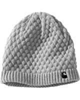 Carhartt WA060 Women's Embroidered 'C' Knit Hat Heather Grey One Size