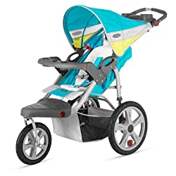 InStep Grand Safari Single Swivel Stroller Blue/Yellow