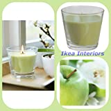 IKEA TINDRA APPLE GLASS JAR CANDLE - 30 HOURS OF BURNING
